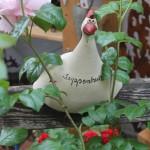 Huhn aus Keramik, frostfest